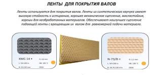 Лента из натурального каучука N-73/B и синтетического КМС-14
