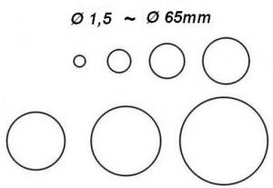 Высечка отверстий круглой формы 1,5- 65мм